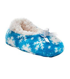 Miss Attitude Girls' Snowflake Slippers