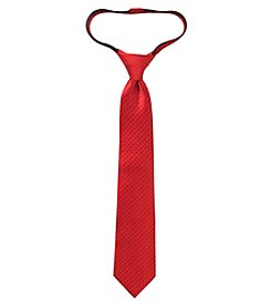 Statements Boys' Solid Dot Textured Zipper Tie