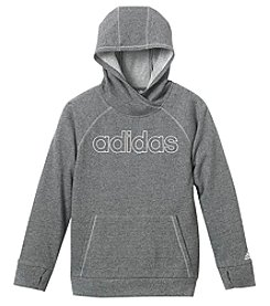 adidas Girls' 8-16 Front Pocket Sparkle Hoodie