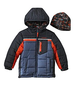 London Fog Boys' 4-7 Heavyweight Single Jacket And Hat