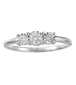 Effy Sterling Silver 0.24 Ct. T.W. Diamond Ring