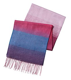 V. Fraas Ombre Striped Scarf