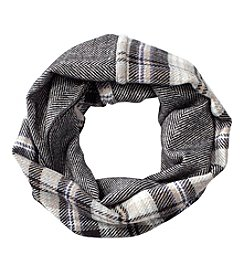 V. Fraas Plaid Chevron Infinity Scarf