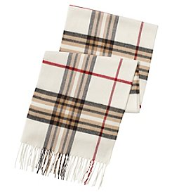 V. Fraas Plaid Muffler Scarf