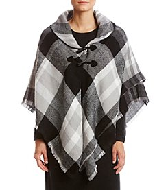 Collection 18 Multi Plaid Poncho Jacket