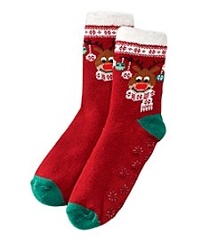 Relativity Plush Reindeer Socks
