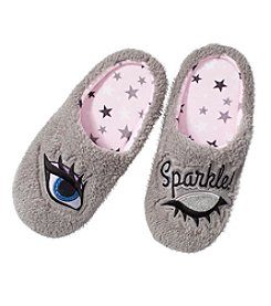 Cuddl Duds Eye Sparkle Slippers