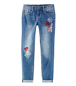 Vigoss Girls' 7-16 Kiss Paris Hello Skinny Jeans
