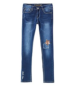Vigoss Girls' 7-16 Star Knee Skinny Jeans
