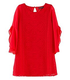 Sequin Hearts Girls' 7-16 Long Sleeve Lace Dress