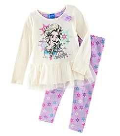Disney Girls' 2T-6X 2 Piece Frozen Top And Leggings Set