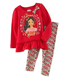 Disney Girls' 2T-6X 2 Piece Elena of Avalor Brave Top And Leggings Set