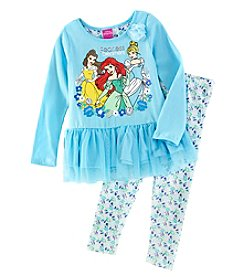 Disney Girls' 2T-6X 2 Piece Dream Princess Top And Leggings Set
