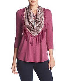 Oneworld Scarf Top