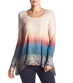 Oneworld Ombre Scoop Neck Top