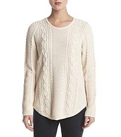 Jeanne Pierre Crew Neck Fisherman Sweater