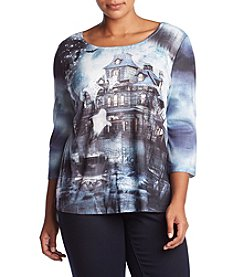 Oneworld Plus Size Haunted House Top