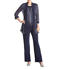 R&M Richards Metallic Jacket And Pantsuit Set