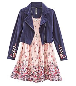 Beautees Girls' 7-16 2 Piece Jacket and Dress