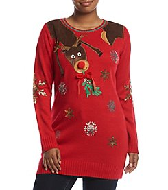 Love Always Plus Size Mistletoe Reindeer Tunic