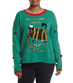 Love Always Plus Size Don't Get Tinsel In Tangle Sweater