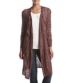Oneworld® Marled Open Cardigan Sweater