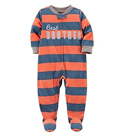 Carter's Boys' 12M-8 One Piece Best Brother Fleece Pajamas