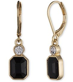 Anne Klein® Jet Drop Earrings
