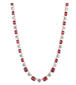 Anne Klein® Red Collar Necklace