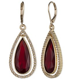 Anne Klein® Red Teardrop Earrings