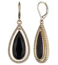Anne Klein® Jet Teardrop Earrings
