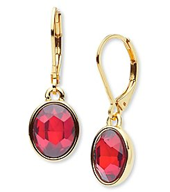 Anne Klein® Red Drop Earrings
