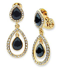 Anne Klein® Jet Clip-On Drop Earrings