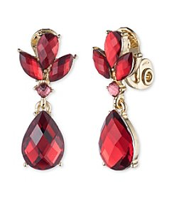 Anne Klein® Red Clip-on Drop Earrings