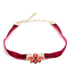 Anne Klein® Red Choker Necklace
