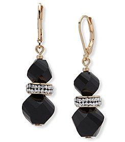 Anne Klein® Jet Bead Drop Earrings