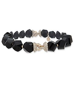 Anne Klein® Jet Stretch Bracelet