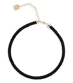 Anne Klein® Jet Sparkle Collar Necklace
