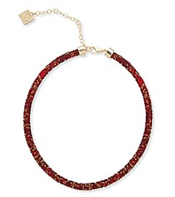 Anne Klein® Red Sparkle Collar Necklace