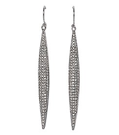 Vince Camuto™ Clear Crystal Pave Spear Linear Drop Earrings