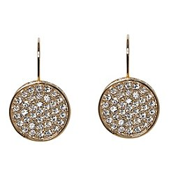 Vince Camuto™ Clear Crystal Pave Circle Leverback Earrings