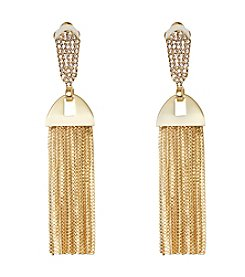 Vince Camuto™ Glass Crystal Clip Back Drop Earrings