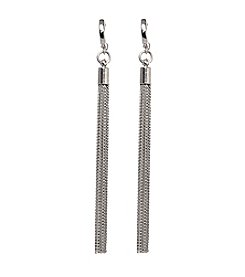 Vince Camuto™ Hoop Earrings with Chain Fringe