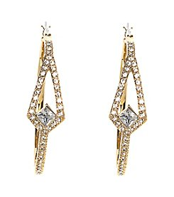 Vince Camuto™ Clear Crystal Pave Hoop Earrings