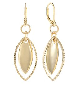 Gloria Vanderbilt® Goldtone Pierced Drop Earrings