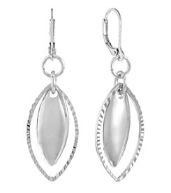 Gloria Vanderbilt® Silvertone Pierced Drop Earrings