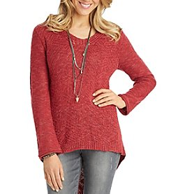 Democracy Flare Sleeve High Low Pullover
