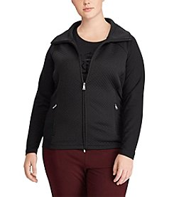 Lauren Ralph Lauren Plus Size Quilted Stretch Cotton Jacket