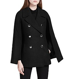 Calvin Klein Double Breasted Capelet Coat
