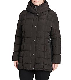 Calvin Klein Plus Size Box Quilt with Bib Insert Coat